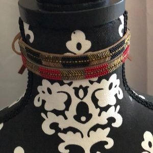 BEAUTIFUL CHAN LUU leather and bead chokers!